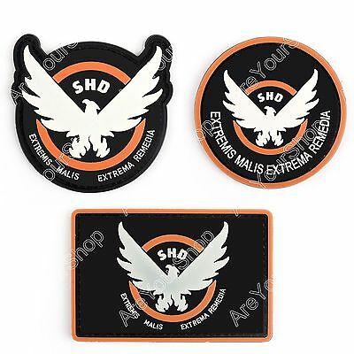 Tom Clancy'S The Division Agent SHD Logo PVC Hook Loop Patch Insignia Cosplay