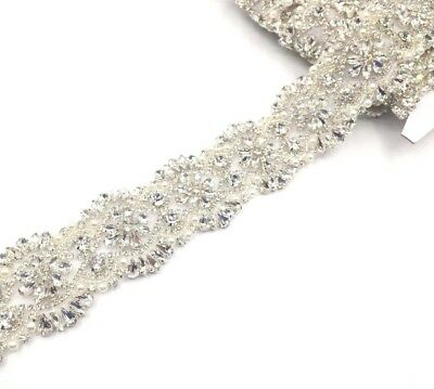 17'' Pear Rhinestone Bridal Belt Trim, Wedding Sash belt ,for bridal dresses