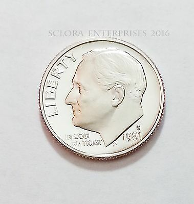 1981 S Roosevelt *proof* Dime *type I (1)*   **free Shipping**