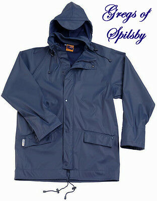 Mens Blue Waterproof Windproof Breathable Jacket in Fortex Rip Stop Fabrics-3XL