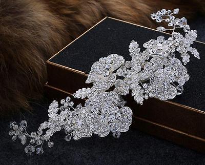 Floral Wedding Hair Vine Crystal Bridal Accessories Rhinestone Headband 1 Piece