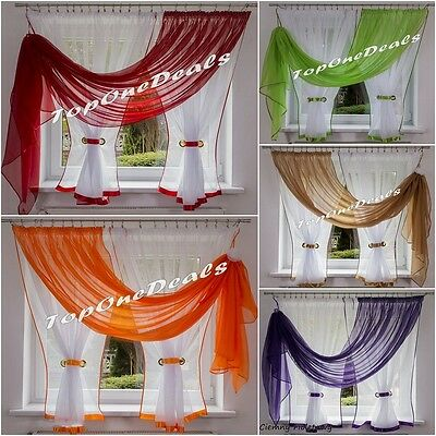 Amazing Voile Net Curtain Ready Made Dining Living Room Bedroom