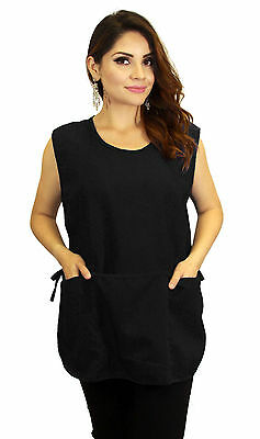 Black Three Pocket One Size Silid Tie On sides Work Wear Cover Shield Buffer