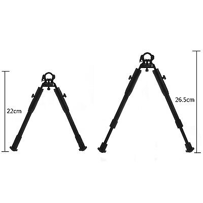 """New 7""""-9"""" Universal Barrel Clamp Mount Adjustable Tactical Rifle Bipod GBNG"""