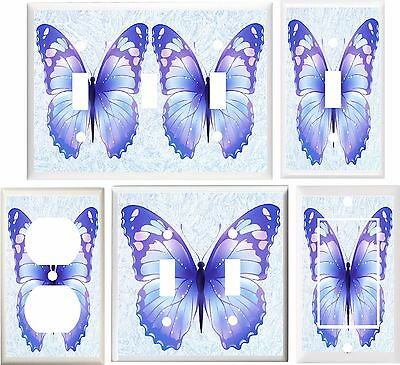 Beautiful Erfly Shades Of Blue Light Switch Cover Plate Or Outlet V888