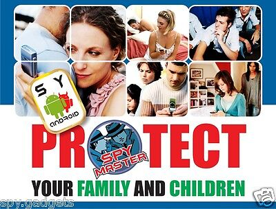 SPY MASTER cell phone surveillance phone Android monitoring Parental Controller