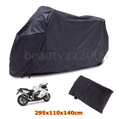 XXXL Black Motorcycle Cover Waterproof For Harley Davidson Street Glide Touring