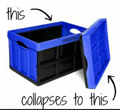 Strong Collapsible / Stackable Plastic Storage Box - Clever Crates