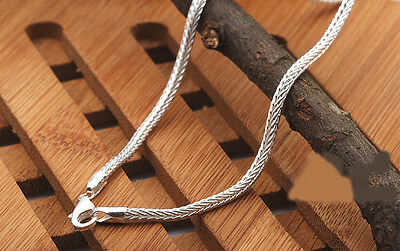 "1PCS 16-30 inches 925 Sterling silver plating ""FOX TAIL"" Chain Necklaces"