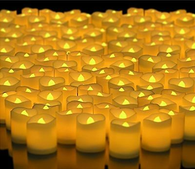24 48 Pack Flameless Votive Candles Battery Operated Flickering LED Tea Light
