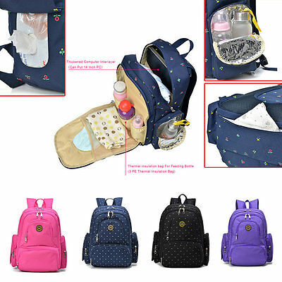 New Mummy Backpack Baby Nappy Diaper Bag Light Changing Bags Backpack Ps