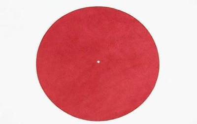 DOS Pad mat turntable Leather red / Leather turntable matte red