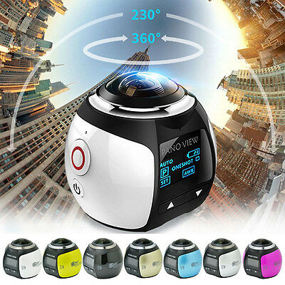 Linux WiFi  360° 2448P Panoramic Camera Sport Action Driving VR Camcorder NEW