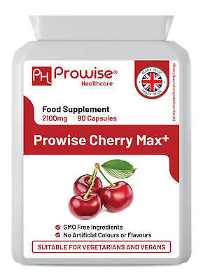 Cherry Max 750mg 90 Capsules, Gout Relief, HIGH STRENGTH Joint/Muscle Supplement
