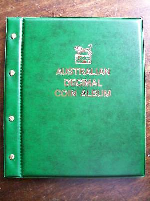 VST AUSTRALIAN DECIMAL COIN ALBUM 1966 to 2016 GREEN COLOUR Binder with MINTAGES