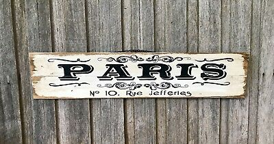PERSONALIZED ADDRESS SIGN Vintage Timber Wall Sign Hanging Art French Provincial