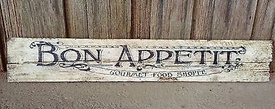 Bon Appetit Large - Rustic Recycled Timber Sign  L100cm x H20cm