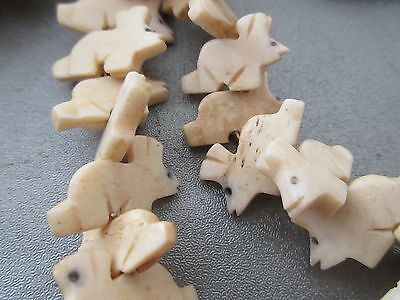 African Trade Bones Handcrafted Animal Shape Beads 45pc