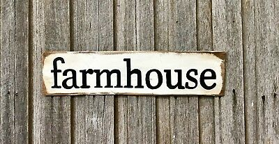 FARMHOUSE - Rustic Vintage Style RecycledTimber Sign H15cm x L60cm