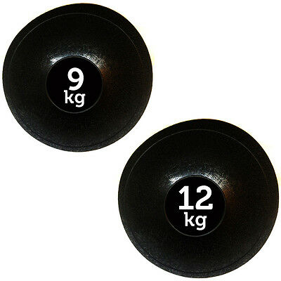 Fxr Sports 9Kg + 12Kg No Bounce Slam Ball Mma Fitness Strength Training Workout