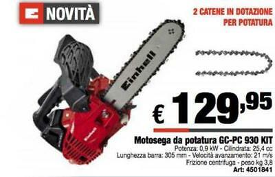 Motosega potatura a scoppio Einhell GC-PC 930 con Kit lama Cm. 30