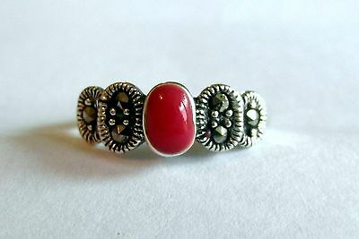 Silver Silver 925  Adjustable  Toe  Ring  With  Blood  Red  Stone  !!    New !!
