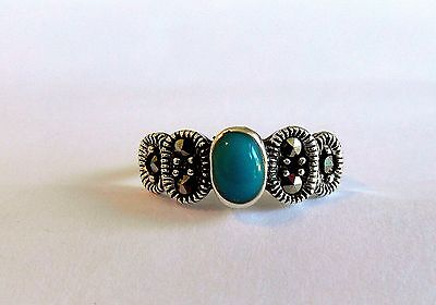 Silver Silver 925  Adjustable  Toe  Ring  With  Turquoise  Stone  !!    New !!