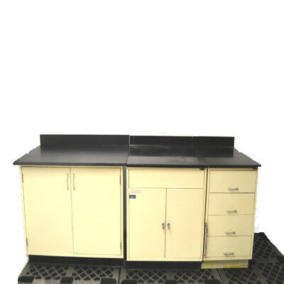 3 pc. Kewaunee Scientific 56268600 Resin Countertop Steel Cabinets & Drawers