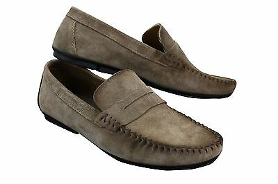 Mens Real Suede Washed Designer Slip On Loafers Moccasins  Smart Casual Shoes