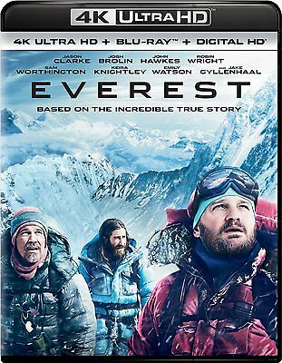 EVEREST (2016)  (4K ULTRA HD) - Blu Ray -  Region free