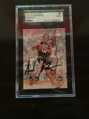 Austin Croshere Signed 1997 Press Pass SGC Authenticated Encapsulated Auto