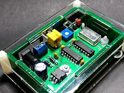 100, 50 & 25 KHz Crystal Calibrator Marker Generator with Laser Cut Acrylic Case