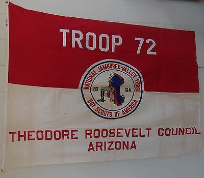 1964 National Jamboree Flag Boy Scouts of America Valley Forge - Arizona Troop
