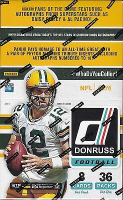 2016 Panini Donruss Football sealed unopened retail box 36 packs of 8 cards NFL