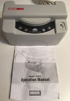 Bosser 100DX Data Eraser Automatic CD Disk Disc Destroyer with Operation Manual