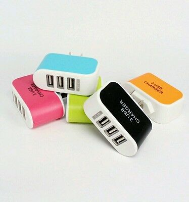 Lot:50pcs:5V 3.1A Triple USB 3 Port Wall USB Charger Adapter for iPhone Samsung