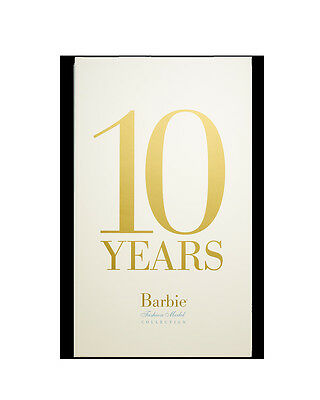 Brand New BARBIE 10 YEARS BARBIE FASHION MODEL COLLECTION BOOK New Sealed