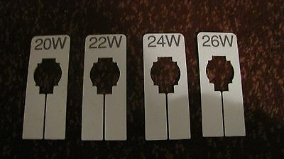 Clothing Size Dividers - Rectangular - Sizes 20W - 26W - USED