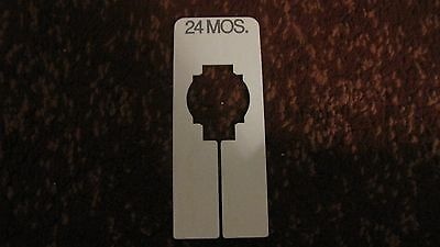 Clothing Size Divider - Rectangular - Size 24 Mos. - USED
