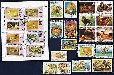25 LIONS on Stamps
