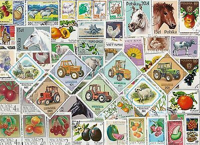 100 AGRICULTURE on Stamps