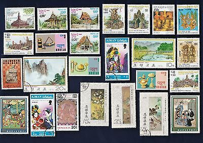 25 ART: ORIENTAL ART on Stamps