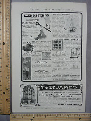 Rare Orig VTG 1906 St James Hotel White Rock Table Water Advertising Art Print