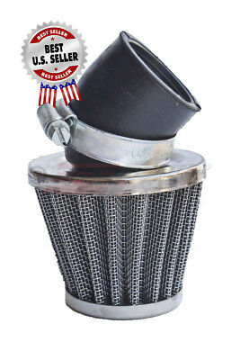 "Air Filter 38mm 1 1/2"" 30 Degree Performance Chrome Cone ~ US Seller."