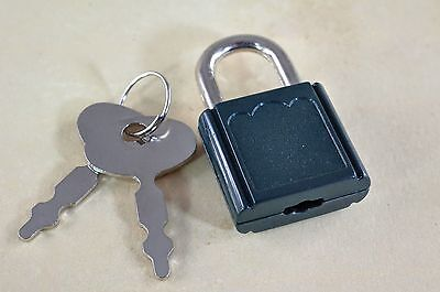 Lot of 7 - Mini SMALL  Padlock Tiny Box Locks With keys - Green Color