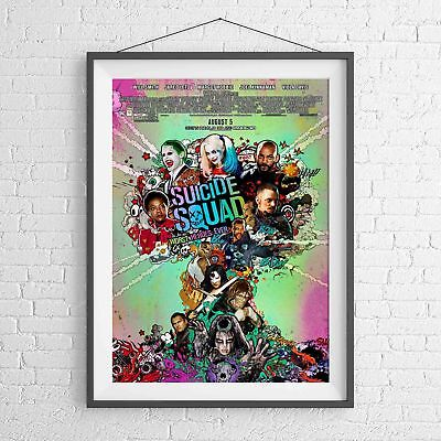 DC COMICS SUICIDE SQUAD MOVIE POSTER PICTURE PRINT Sizes A5 to A0 **NEW**