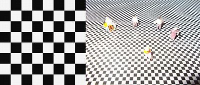 200Mm X 280Mm N Scale Self Adhesive Checker Board Sheet Malls Station Floors