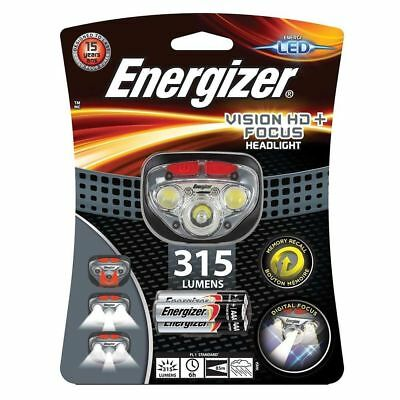 Energizer Vision HD+ Focus 300 Lumens Super Bright Headlight 3x AAA Batteries