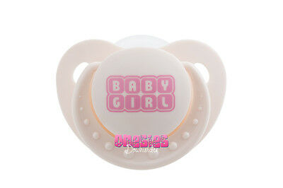 Adult Sized White BABY GIRL Pacifier/Dummy  | For Adult Baby ABDL DDLG |