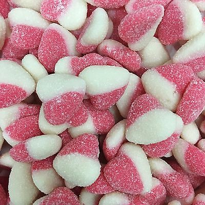 Red & White Hearts Red And White Lollies Soft 1Kg Approx 200Ct